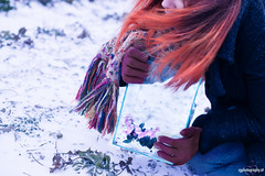 While there's life, there's hope. (CorneliaGillmannPhotography) Tags: vienna life winter light portrait selfportrait snow plant cold flower color nature glass girl dark photography snowflakes hope austria photographer treasure emotion surreal cage redhead precious soul hopeless exceptional