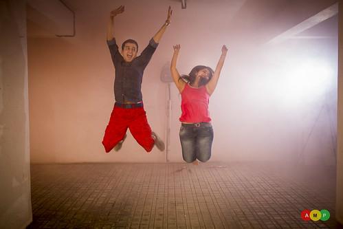 Jump in joy, like crazy friends!