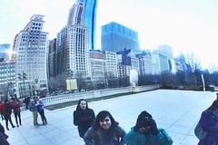 Reflection in the Cloud Gate Sculpture Chicago, IL (Wanderlust.jpg) Tags: life park christmas city family blue winter vacation sky people sculpture cloud cold reflection art colors beauty clouds canon buildings fun happy person photography rebel mirror gate december day skyscrapers friendship outdoor live crowd joy culture happiness windy bean millennium experience humans t3i positivity 2015 phoyography