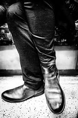 tube london (Cem Bayir) Tags: street leica people blackandwhite bw monochrome train 35mm underground legs metro f14 tube passenger summilux asph crossedlegs crossed leicam240