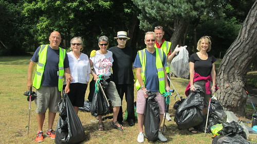 Residents care for the West Cliff Green. Litter Picks and Painting over graffiti by Chris Colledge