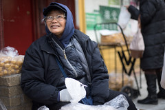 Tofu Seller (dtanist) Tags: new york city nyc newyorkcity newyork canon 50mm chinatown manhattan sony tofu grand vendor fried selling seller a7 fd