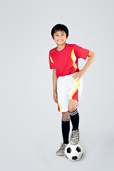 Soccer (Patrick Foto ;)) Tags: school boy people white playing game cute male smile childhood sport youth standing ball studio asian fun thailand happy person football kid education child play exercise background soccer young lifestyle competition player teen thai teenager leisure concept copyspace activity isolated active fulsal