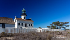 Old Point Loma Lighthouse (John H Bowman) Tags: california lighthouses december sandiego stonework historic blueskies sandiegocounty 2015 stonebuildings canon2470l nrhp pacificlighthouses fencesgates oldpointlomalight calighthouses december2015