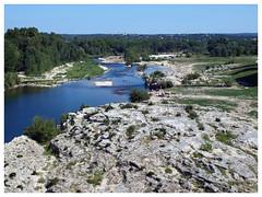 Le Gardon (abac077) Tags: france water 30 architecture river eau rivière pontdugard gard languedocroussillon 2015 gardon