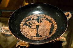 IMG_8818 (jaglazier) Tags: vienna wien men art archaeology painting greek austria women ceramics wine crafts january hats athens greece cups armor attic pottery soldiers warriors redwine museums adults vases shields earthenware 1516 offerings kunsthistorischesmuseum patera 2016 helments kylix redfigure palmettes vasepainting archaeologymuseums copyright2016jamesaglazier