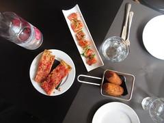 Food or Art? (KevinWatson.net) Tags: barcelona food salmon tapas february 2016 croqueta sierracazorla robadora