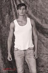 Denis Gomes, Model Portfolio Shoot. (Kent Johnson) Tags: portrait man fashion studio style jeans modelling singlet modellingportfolio 1000logoadjsev2585501