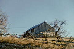 Farm on a Hill (gabi-h) Tags: trees winter rural fence farm rustic february friday gabih cedarrailfence hastingscounty