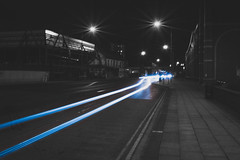 Light Trails (connorcinhull) Tags: light white black colour photography mono photo nikon long exposure trails connor trail chrome photograph campbell amateur trial selective monochome d600 d7200