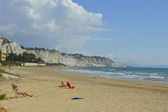 La spiaggia di Capo Rossello e sullo sfondo la Scala dei Turchi (costagar51) Tags: italy italia mare natura sicily sicilia agrigento realmonte anticando panoramafotogrfico contactgroups