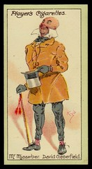Cigarette Card - Mr Micawber (cigcardpix) Tags: vintage advertising ephemera dickens cigarettecards
