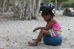 Young local girl on the beach in Tortola BVI (Visions Service Adventures) Tags: travel summer island visions highschool teen service caribbean volunteer tortola bvi britishvirginislands