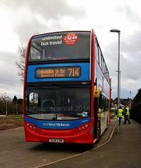 National Express West Midlands 4955 SL14 LSN (Alisha) - ADL Enviro 400 (Retroscania!) Tags: west bus buses alexander dennis publictransport westmidlands westbromwich wolverhampton bromwich pensnett enviro400 nationalexpresswestmidlands nxwm