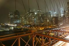 Brooklyn Bridge (max rocker) Tags: new york bridge usa ny rain fog architecture brooklyn night skyscraper buildings lights long exposure downtown manhattan