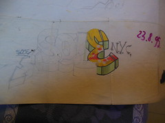 SOLE  sketch 1995 (sprinter77) Tags: old school graffiti sketch spray lettering draw aerosol disegno letraset pantone bozzetto