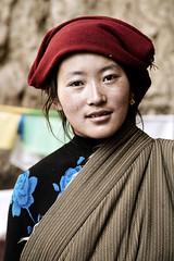 Portrait of a tibetan woman (Matteo Melchior) Tags: portrait woman mountain lake mountains lago tibet himalaya namtso montagna ritratto flickrtravelaward