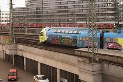 Graffiti (Honig&Teer) Tags: railroad streetart station sport train germany graffiti hannover vehicle hbf treno spraycanart wfb traingraffiti trainart railroadgraffiti westfalenbahn honigteer eisenbahngraffiti
