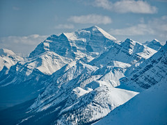 Crowfoot Pass panorama, Banff National Park, Alberta (Cwep) Tags: canada blackwhite skiing artistic location alberta activity banffnationalpark 2011 mounttemple crowfootpass