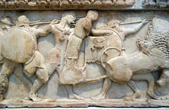 North frieze, Siphnian Treasury, Dionysos and Themis on chariot (profzucker) Tags: archaeology architecture greek oracle ancient tripod treasury lion delphi battle frieze greece zeus homer gods athena apollo mythology pediment achilles myth chariot sifnos reconstruction ionic ancientgreece ares archaic hera memnon olympian reliefsculpture dionysos siphnos illiad homeric gigantomachy siphniantreasury siphnian smarthistory