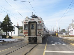South Shore Line (codeeightythree) Tags: street electric south shoreline running interurban nictd passengertrain panograph southshorerailroad passengerservice streetrunningrailroad