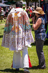 parkes-2417 (yukkycakes) Tags: lady chains eagle australia newsouthwales cape parkes bejewelled crinkled shorttrousers parkeselvisfestival2016 pretendelvis