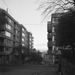 Viktoriagatan (rotabaga) Tags: blackandwhite bw göteborg diy lomo lomography sweden gothenburg sverige tmax400 lubitel166 svartvitt r09 bwfp