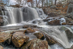 Chilly Chapman Falls (tquist24) Tags: longexposure trees winter tree ice water rock river geotagged waterfall nikon rocks unitedstates connecticut newengland lichen hdr easthaddam devilshopyardstatepark chapmanfalls eightmileriver nikond5300
