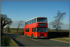 Hunter Returns (Jason 87030) Tags: school red dublin color colour bus sony transport hunter alexander roadside february alpha northants doubledecker olympian 2016 daventry a361
