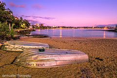 Shelly Beach, Sydney (darrinwalden Photography) Tags: pink reflections boat sand manly sydney beaches northern dingy