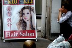 Hair Salon (aka Jon Spence) Tags: london chinatown break board advertisement chef advert hairsalon mirroring londonist lislestreet