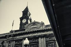 Hoboken Terminal Facade & Tower (PAJ880) Tags: new bw tower facade rr terminal transit jersey erie hoboken lackawanna njt 1907