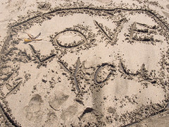 Love message (melastmohican) Tags: california new travel sea summer vacation holiday abstract texture love beach nature water sign writing handwriting word coast us sand day message unitedstates symbol drawing sandy text wave sunny nobody shore coastline concept written pescadero