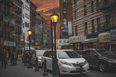Twilight Is A Temptress (wowography.com) Tags: nyc sunset sky people food architecture buildings easter twilight nikon chinatown walk culture streetphotography nypd chinesenewyear lamppost february littleitaly 28300mm mottstreet fireescapes 2016 d610 wowographycom 4728044