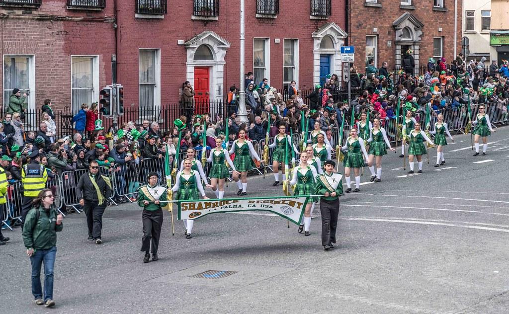 John F. Kennedy High School (Shamrock Regiment), California [St. Patrick's Parade 2016]-112638