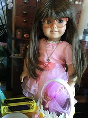 Molly working on Easter baskets (bumbledaph) Tags: girl easter doll molly company american ag pleasant whitebody