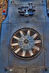 Locomotive Radiator Cooling Fan (BDM17) Tags: railroad train fan top engine rail grill locomotive horn radiator overhead blades cooling