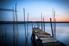 The blue hour! (_ranhada) Tags: longexposure blue port river bluehour vianadocastelo longaexposio minho ndfilter olympusom riolima omsystem horaazul caispalaftico legacylenses pierstilts portugalmanuallenses