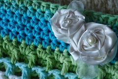 Beach Tote Bag (creatingtreasures) Tags: blue sea summer beach bag crochet tote