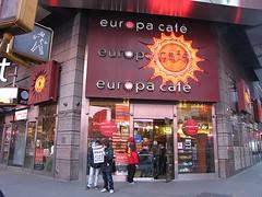 Europa Cafe Times Square (wheeltoyz) Tags: new york city yellow square cafe europa cab taxi times sq