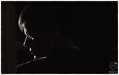 Noir Experiments (andrea.fogliacco) Tags: light white selfportrait black classic film silhouette contrast high key noir low hard lowkey luce dura detective noire retronoir hadrlight