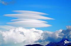 Lenticular clouds (magellano) Tags: sky cloud patagonia argentina nuvola glacier cielo lenticular upsala lenticolare