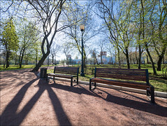 Russia. Moscow. Spring near the Novodevichy Convent. (Yuri Degtyarev) Tags: city plant tree bench spring russia outdoor moscow ngc panasonic monastery micro g3 russian convent moskau federation 43 moscou moskva 714 7144 novodevichy     fourthirds     hf007014
