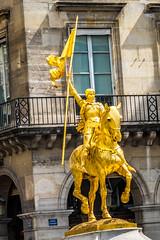 Joan of Arc (Serendigity) Tags: city horse paris france statue golden banner lance gilded equine joanofarc