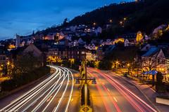 Idar Oberstein Strae (fadenfloh) Tags: city night lights nacht stadt verkehr idar lichter oberstein