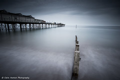 (Claire Hutton) Tags: uk longexposure sea water weather coast pier seaside waves moody overcast wideangle wash coastal devon le desaturated drab teignmouth ndgrad leefilters sonya6000 samang12mm