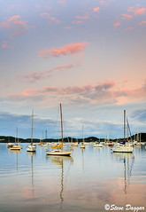 0S1A5734enthuse (Steve Daggar) Tags: sunset marina reflections yacht waterscape woywoy
