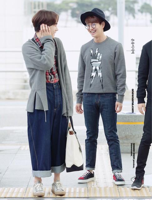 160401 SHINee (Sin Jonghyun) @ Aeropuerto de Incheon {Rumbo a Japón} 26154981321_80c9e158b2_z