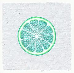 lime (Alkaline Samurai) Tags: green lime inkart handmadepaper arlendean alkalinesamurai