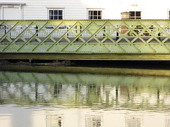 Reflections in the Great Stour in Canterbury (P1040699) (alg24) Tags: uk bridge england reflection building water buildings reflections river reflecting kent flickr bridges canterbury rivers reflective greatstour